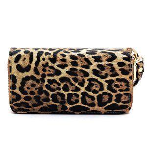 My Bag Lady Online Bags - Leopard Double Zip Wallet Wristlet